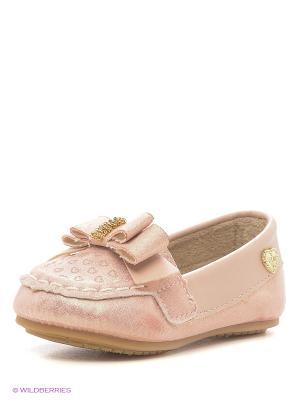 Мокасины Klin. Цвет: бледно-розовый