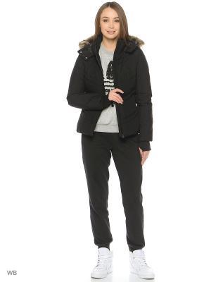 Куртка DOWN JACKET Adidas. Цвет: черный