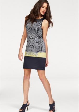 Платье VIVANCE. Цвет: темно-синий/белый с рисунком