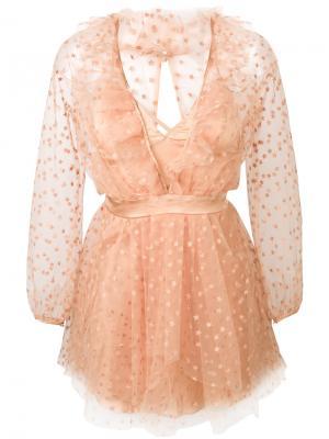 All That Glitters mini dress For Love And Lemons. Цвет: телесный