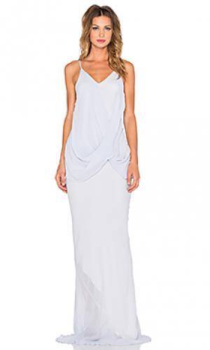Платье-комбинация twisted One Fell Swoop. Цвет: нежно-голубой
