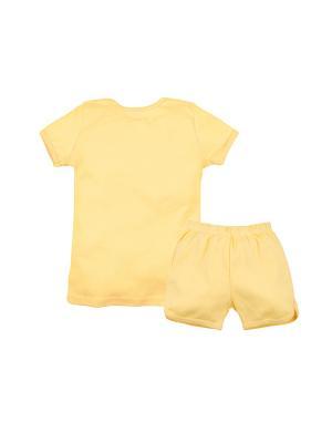 Комплект (футболка, шорты) Машук. Цвет: светло-оранжевый, желтый