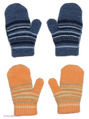 Варежки FOMAS. Цвет: голубой, молочный, оранжевый, оливковый