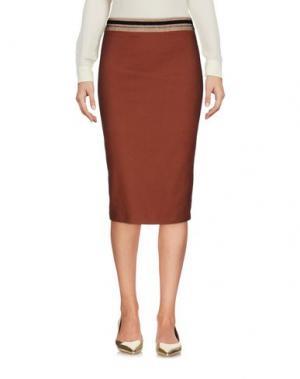 Юбка до колена KRISTINA TI. Цвет: коричневый