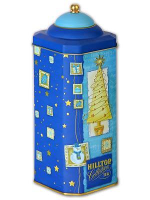 Чай Hilltop высокая 8-гран банка Золотая елка Черный лист 125г.. Цвет: черный