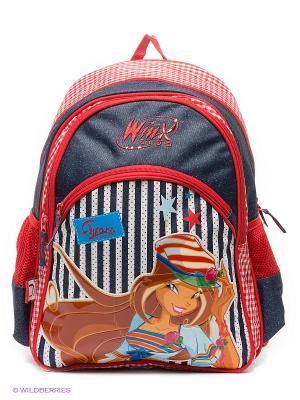Рюкзак школьный Winx Club Marin. Цвет: темно-синий, коричневый, красный