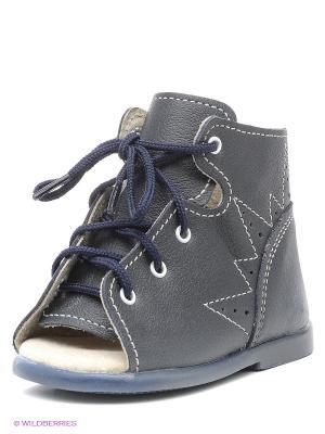 Ботинки Детский скороход. Цвет: черный, синий