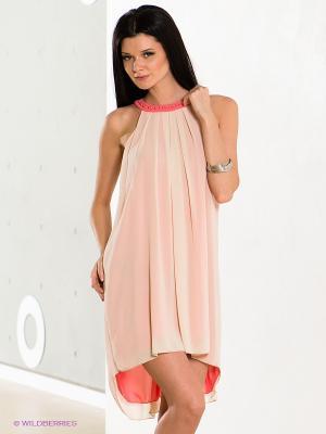 Платье COMPAGNIA ITALIANA. Цвет: коралловый, светло-бежевый