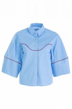 Рубашка STELLA JEAN. Цвет: голубой