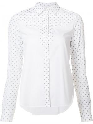 Рубашка с узором в горох Rosetta Getty. Цвет: белый