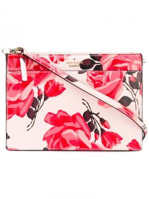 Floral print crossbody bag Kate Spade. Цвет: розовый и фиолетовый