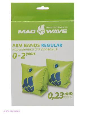 Нарукавники Mad Wave. Цвет: зеленый