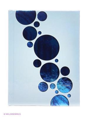 Орнамент КНИГА ДЛЯ ЗАПИСЕЙ А6 Канц-Эксмо. Цвет: светло-голубой, светло-серый