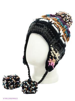 Ушанка Maxval. Цвет: черный, серый, темно-фиолетовый