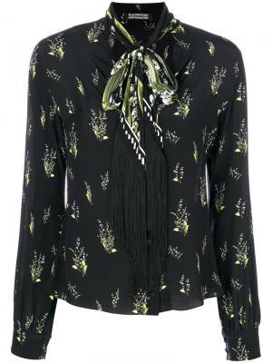 Рубашка с цветочным принтом Rockins. Цвет: чёрный