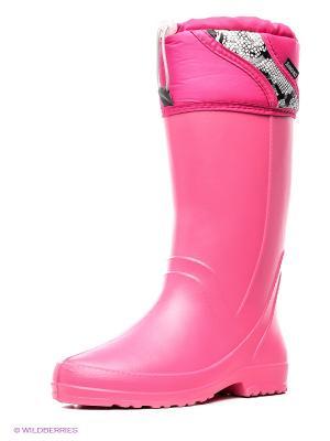 Резиновые сапоги Дюна. Цвет: розовый