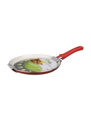 Сковорода блинная 24х1,7см Green Top. Цвет: красный