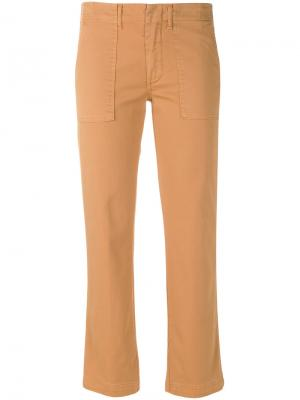 Cropped trousers Dondup. Цвет: коричневый