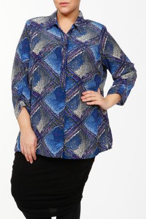 Блуза Конфетти Terra. Цвет: синий