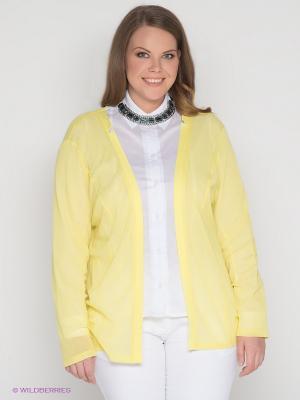 Кардиган SVESTA. Цвет: желтый