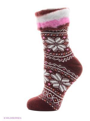 Носки для дома HOSIERY. Цвет: бордовый