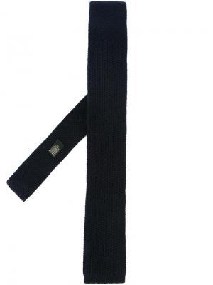 Трикотажный галстук Corneliani. Цвет: синий