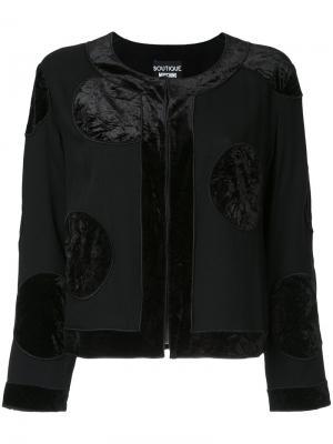 Пиджак в горох Boutique Moschino. Цвет: чёрный