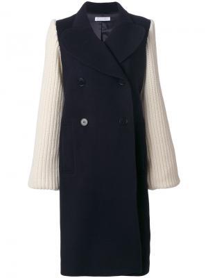 Пальто крупной вязки JW Anderson. Цвет: синий
