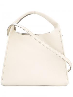 Структурированная сумка-тоут Maison Margiela. Цвет: белый