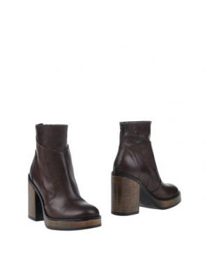 Полусапоги и высокие ботинки PIAMPIANI. Цвет: темно-коричневый