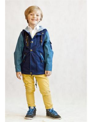 Куртка Oldos. Цвет: синий,голубой