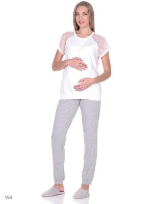 Комплект для беременных и кормящих ФЭСТ. Цвет: белый, серый