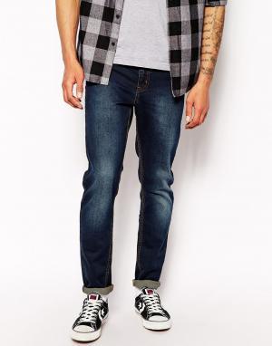 Zee Gee Why Супероблегающие джинсы скинни Sticks & Bones. Цвет: синий