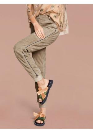 Кожаные брюки RICK CARDONA by Heine. Цвет: песочный