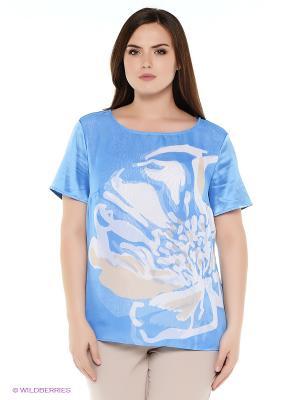 Блузка Oodji. Цвет: синий