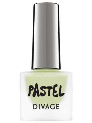 Матовый лак для ногтей pastel, тон  07 DIVAGE. Цвет: светло-зеленый