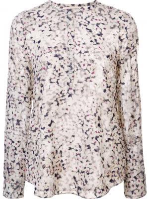 Блузка с цветочным узором Rebecca Taylor. Цвет: телесный
