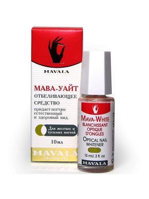 Оптическое отбеливающее средство для ногтей Мава-Уайт/Mava-White 10ml Mavala. Цвет: молочный