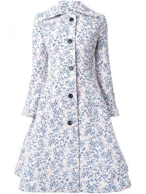 Расклешенное пальто Duvet Jourden. Цвет: розовый и фиолетовый