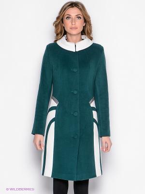 Пальто Malinardi. Цвет: зеленый, белый