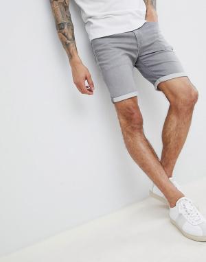 Selected Homme Джинсовые шорты. Цвет: серый
