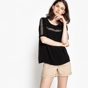 Блузка с короткими рукавами TISHERMAN SUD EXPRESS. Цвет: черный
