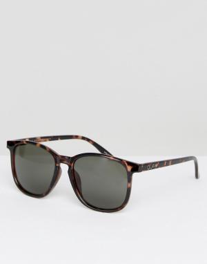 Quay Australia Квадратные солнцезащитные очки в черепаховой оправе. Цвет: коричневый