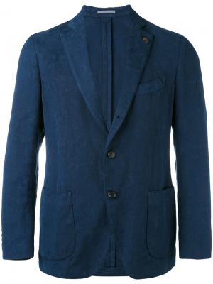 Классический пиджак Gabriele Pasini. Цвет: синий
