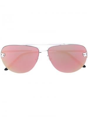 Солнцезащитные очки Panthère de Cartier. Цвет: металлический