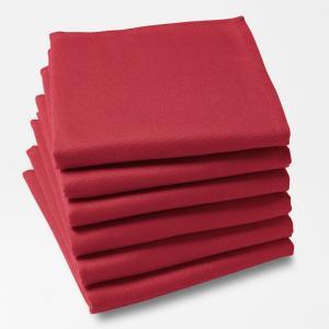 6 салфеток SCENARIO. Цвет: красный,светло-серый,серо-коричневый каштан,серый,сине-зеленый