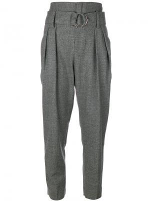 Суженные книзу брюки Iro. Цвет: серый