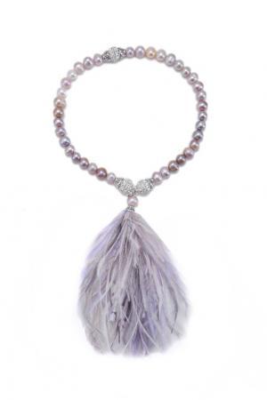 Жемчужный браслет-чокер «Фламинго» Esve. Цвет: розовый