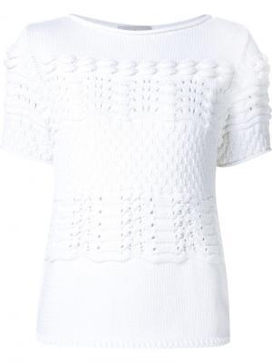 Фактурная футболка Maison Ullens. Цвет: белый