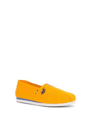 Слипоны U.S. Polo Assn.. Цвет: оранжевый, темно-синий